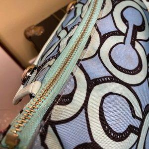 Coach Bags - Coach 14982 Poppy Teal Blue Black Shoulder Bag